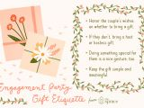 Engagement Thank You Card Message Gift Tips for the Engagement Party