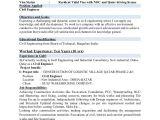 Engineer Resume format 2018 Resume for Civil Engineer 2018