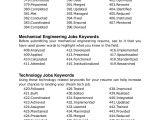 Engineer Resume Keywords Ultimate List Of 500 Resume Keywords
