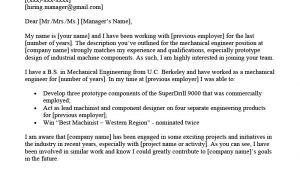 Engineer Resume Letter Mechanical Engineer Cover Letter Example Resume Genius