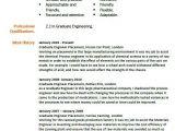 Engineer Resume New Graduate Graduate Engineer Cv Example Civil Engineer Resume