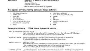 Engineer Resume Philippines Ezbonavente Cv Civil Structural Engineer