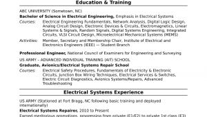 Engineer Resume Professional Summary Sample Resume for A Midlevel Electrical Engineer Monster Com
