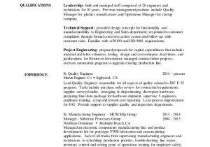Engineer Resume Qualities 2016 Resume Quality Engineer V3