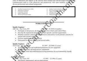 Engineer Resume Qualities Download the Quality Engineer Resume Sample Three In Pdf