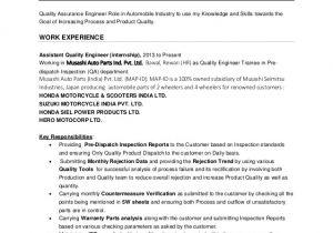 Engineer Resume Qualities Nishant Saxena Quality Engineer Resume