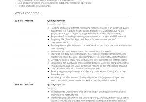 Engineer Resume Qualities Quality Engineer Resume Samples and Templates Visualcv