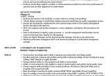 Engineer Resume Qualities Quality Engineer Resume Samples Velvet Jobs