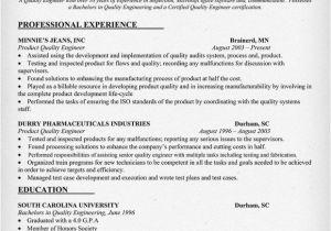 Engineer Resume Qualities Quality Engineering Resume Sample Resumecompanion Com