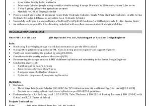 Engineer Resume with 1 Year Experience Design Engineer Resume with 5 9 Year Professional Experience 1