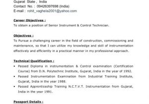 Engineer Resume with 1 Year Experience Resume format for Diploma Mechanical Engineer Experienced
