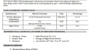 Engineering Fresher Resume format Download In Ms Word 45 Fresher Resume Templates Pdf Doc Free Premium