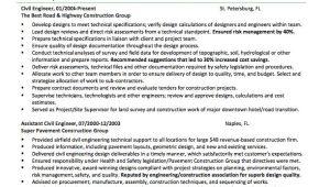 Engineering Resume Writing Service Use Civil Engineer Resume Sample Here