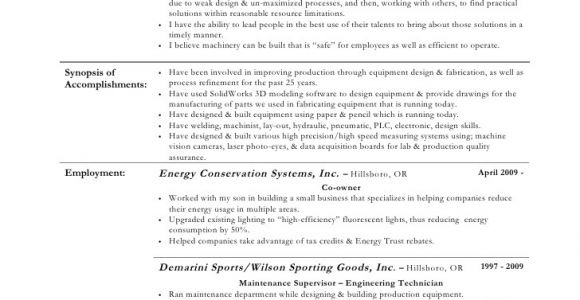 Engineering Technician Resume Engineering Technician Resume