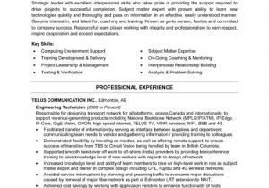 Engineering Technician Resume Engineering Technician Resume Template Premium Resume