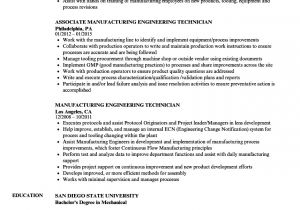 Engineering Technician Resume Manufacturing Engineering Technician Resume Samples
