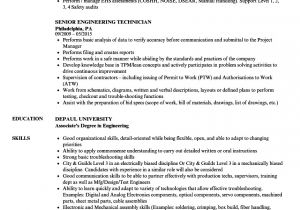 Engineering Technician Resume Senior Engineering Technician Resume Samples Velvet Jobs