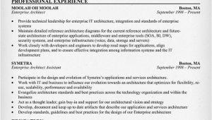 Enterprise Architect Resume Sample Architect Resume Architect Resume Resume Cv Template