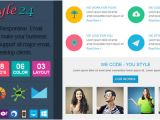 Envato Responsive Email Templates Style24 Clean Cool Responsive Email Template by