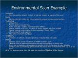 Environmental Scan Template Sustaining Customer Relationships Rev 1