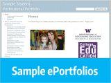 Eportfolio Templates Ecfs Eportfolio Resources College Of Education