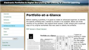 Eportfolio Templates Examples Resumes Eportfolios My Ecoach