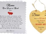 Eternal Love Card Drop Rate Personalised Romantic Marriage Proposal Card and Heart Tag Mini Plaque Our Love is Real Love Letter Special Occasions Perfect for Framing