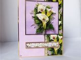 Etsy Thank You Card Wedding Lily Birthday Card 3 D Decoupage Card Floral Card Special Birthday Especially for You Special Day Card Celebrate Your Day