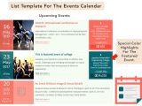 Event Calendar Template for Website the events Calendar Shortcode and Templates WordPress