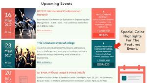 Event Calendar Template for Website the events Calendar Shortcode and Templates WordPress