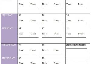 Event Calendars Templates Calender Template Part 8
