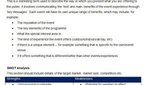 Event Marketing Proposal Template event Marketing Plan Template 11 Free Word Documents