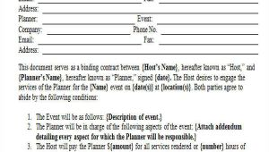 Event Planning Contract Template 15 event Contract Templates Sample Example format
