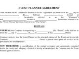 Event Planning Contracts Template event Contract Template 23 Word Excel Pdf Documents