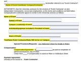Event Planning Contracts Template event Contract Template 25 Download Documents In Pdf
