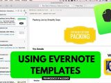 Evernote Templates Download Using Evernote Templates Workshop From Simply Days Youtube