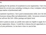 Example Of A Cover Letter for A Receptionist Cover Letter Examples for Receptionist Administrative