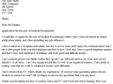 Example Of A Cover Letter for A Receptionist Medical Receptionist Cover Letter Example Icover org Uk
