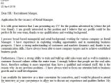 Example Of A Cover Letter for Retail Retail Cover Letter Example Icover org Uk
