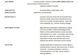 Example Of Basic Resume Outline 12 Resume Outline Templates Samples Doc Pdf Free