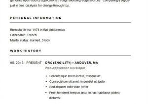 Example Of Basic Resume Outline Basic Resume Samples Bravebtr
