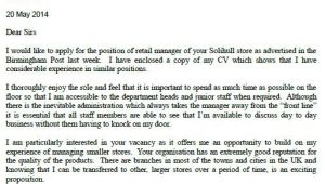Example Of Cover Letter for Retail Job Sample Cover Letters for Jobs Not Advertised Cover