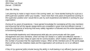 Example Of Cover Letter for Supervisor Position Cover Letter for Supervisor Position Resume Badak