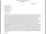 Example Of Cover Letter for Supervisor Position Professional Production Supervisor Cover Letter Sample