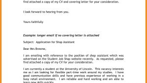 Example Of Email Cover Letter to Job Application 6 Email Covering Letter for Job Application Gcsemaths