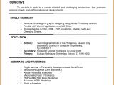 Example Of Resume for Job Application In Philippines 6 Example Of Filipino Resume format Penn Working Papers