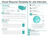 Example Of Resume for Job Interview Visual Resume Template for Job Interview Presentation