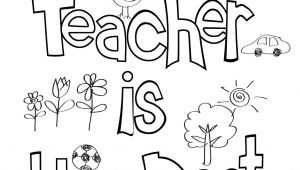 Example Of Teachers Day Card Teacher Appreciation Coloring Sheet with Images Teacher