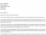 Examples Of Cover Letters 2014 Support Worker Cover Letter Example Icover org Uk