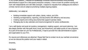 Examples Of Cover Letters for Admin Jobs Best Administrative assistant Cover Letter Examples